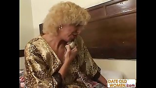 Grandmother shagging juvenile cookie