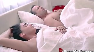 Dirty Dad Fucks Slutty Latina Stepdaughter Behind Wife'_s Back
