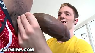 GAYWIRE - Twink Jesse Jordin Gets His Tight Ass WRECKED By Castro Supreme'_s Big Black Dick