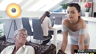 Old Man Taboo Copulates His Sons Girlfriend In Same Room