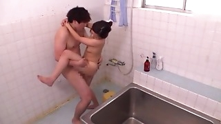 Ravishing Asian lady takes a nice shower before getting fucked